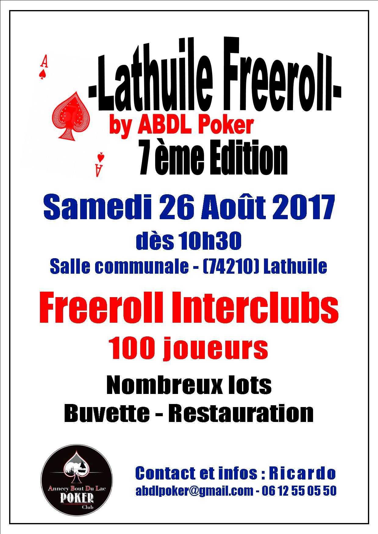 Affiche Freeroll ABDL 2017