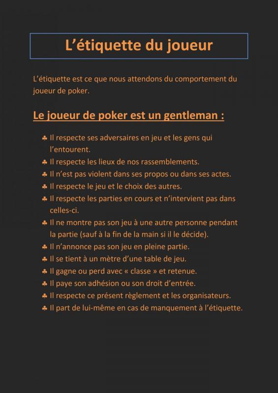 Envoi de l etiquette du joueur de poker 001